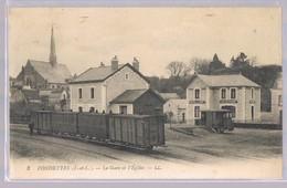 FONDETTES . La Gare Et L'Eglise . - Fondettes