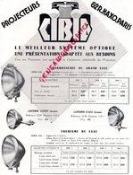 75- PARIS- RARE PUBLICITE PROJECTEURS CIBIE-62 RUE HAXO-MARS 1932- ECLAIRAGE AUTO MOTO- LANTERNE PROJECTEUR ECLAIRAGE - Pubblicitari