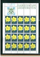 LIECHTENSTEIN - BLOCCO FOGLIETTO MNH - 1972 - BLUMEN - FLOWERS - FIORI 4v. - Blocs & Feuillets
