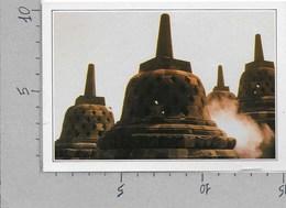 CARTOLINA NV DE AGOSTINI - INDONESIA - Giava - Il Tempio Di Borobudur - Vedute Dal Mondo - 10 X 15 - Indonesia