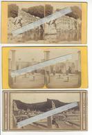 Circa 1860 1865 NAPLES NAPOLI CASERTA POMPEI 3 STEREO ITALIE ITALIA ACHILLE QUINET PHOTO STEREO/FREE SHIPPING REGISTERED - Photos Stéréoscopiques