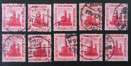 PROTECTORAT BRITANNIQUE - COLOSSE DE MENNON 1922 - OBLITERES - YT 63 - VARIETES DE TEINTES ET D'OBLITERATIONS - Égypte