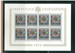 LIECHTENSTEIN - BLOCCO FOGLIETTO MNH - 1973 - BLASONE STEMMA - National Coat Of Arms 1v - Blocchi & Fogli