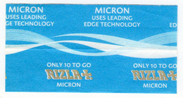 NEW RIZLA MICRON WARNING PAPER Only 10 To Go 10 Left - Non Classificati