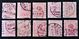 PROTECTORAT BRITANNIQUE - SPHINX DE GIZEH 1922 - OBLITERES - YT 61 - VARIETES DE TEINTES ET D'OBLITERATIONS - 1915-1921 Protectorat Britannique