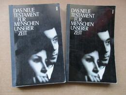 """Das Neue Testament Für Menschen Unserer Zeit """"Tome 1 Et 2"""" éditions De 1965 - Christianisme"""