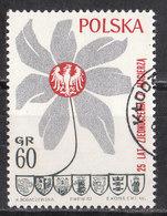 1970.05.09. Flower With Piast Eagle, The Coats Of Arms Of Opole, Wroclaw, Zielona Gora, Szczecin, Koszalin, Gdansk USED - Used Stamps