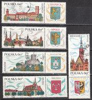 1970.05.09. Tourism - Legnica, Opole, Brzeg, Wroclaw, Bolkow USED - Oblitérés