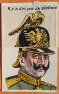 """CPA à Coulissement. Guerre 1914. """"Il Y A Des Pas Au Plafond"""" (une Araignée Sous Le Casque).. Editeur: Sans/ Illust: E.H. - Oorlog 1914-18"""