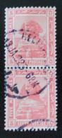 PROTECTORAT BRITANNIQUE - SPHINX DE GIZEH 1922 - PAIRE VERTICALE OBLITEREE - YT 61 - 1915-1921 Protectorat Britannique
