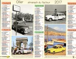 -- ALMANACH DU FACTEUR 2017- ILLUSTRE D'AUTOMOBILES DES ANNEES 1960 -- - Calendars