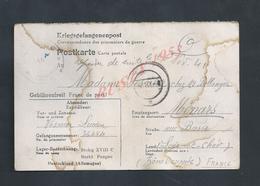 MILITARIA CARTE CORRESPONDANCE EN FRANCHISE MILITAIRE ALLEMAGNE STALAG POUR FAMILLE ( LUCIEN ) VESNIER MÉNARS : - Marcophilie (Lettres)