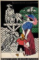 Wiener Werkstätte 662 Kiessewetter, Adalberta Schönbrunn In Der Menagerie (II Mittelbug) - Künstlerkarten