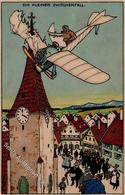 Jung, Moritz Flugzeug Vor 1945 Humor  Künstlerkarte I-II Aviation - Künstlerkarten