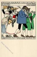 Wiener Werkstätte Nr. 169 Diveky, Josef Kaiserjubiläums Huldigungs Festzug 1908 Künstler-Karte I- - Künstlerkarten