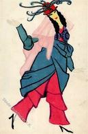 Wiener Werkstätte Nr. 882 Likarz, Maria Unsign. Russisches Ballett Künstler-Karte I-II (fleckig) - Künstlerkarten
