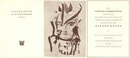Wiener Werkstätte Wiener Messe 1921 Klappkarte I- (keine AK) - Künstlerkarten