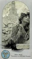 Mucha, Alfons Frau Ivancice Künstler-Karte I-II - Mucha, Alphonse