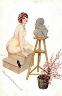 Kirchner, R. Erotik Künstlerkarte I-II Erotisme - Kirchner, Raphael