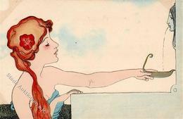 Kirchner, R. Frau Brunnen Künstlerkarte I-II - Kirchner, Raphael