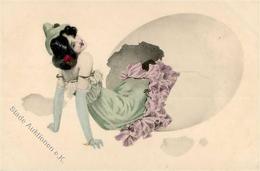 Kirchner, R. Frau Ei  Künstlerkarte I-II - Kirchner, Raphael