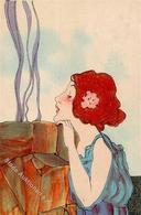Kirchner, R. Frau Jugendstil  Künstlerkarte 1900 I-II Art Nouveau - Kirchner, Raphael