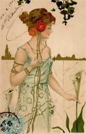Kirchner, R. Frau Jugendstil  Künstlerkarte 1905 I-II Art Nouveau - Kirchner, Raphael