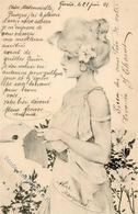 Kirchner, R. Frau Jugendstil Künstlerkarte 1901 I-II (Eckbug) Art Nouveau - Kirchner, Raphael