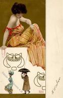 Kirchner, R. Frau Marionetten Künstlerkarte I-II - Kirchner, Raphael
