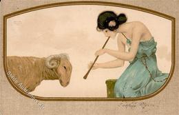 Kirchner, R. Frau Schaf  Künstlerkarte 1904 I-II - Kirchner, Raphael