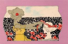 Kirchner, R. Frauen Jugendstil  Künstlerkarte I-II Art Nouveau Femmes - Kirchner, Raphael