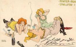Kirchner, R. Hinter Den Coulissen I. Künstlerkarte I-II - Kirchner, Raphael