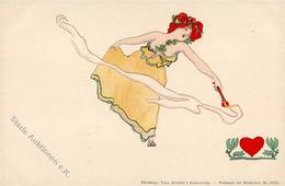 Kirchner, R. Jugendstil Verlag TSN 5525 Künstlerkarte I-II Art Nouveau - Kirchner, Raphael