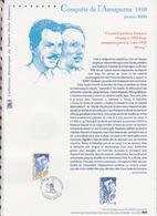 Feuillet 1ER JOUR COLLECTION HISTORIQUE 2000 527 CONQUETE DE L'ANNAPURNA 1950 - Documenti Della Posta