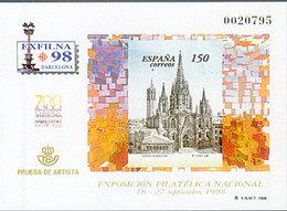 España Prueba De Lujo 066 ** Barcelona. 1998 - Blocks & Sheetlets & Panes