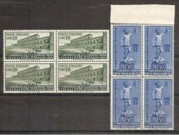 1950 Italia Italy Repubblica UNESCO 4 Serie Di 2v. MNH** In Quartina Bl.4 - UNESCO