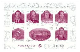 España Prueba De Lujo 076 ** Familia Real. 2001 - Blocks & Sheetlets & Panes