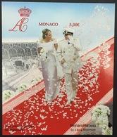 MONACO Bloc N° 101A Mariage Princier NON DENTELE IMPERF, Superbe ** Et RARE ! - Blocchi