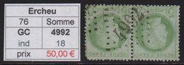 Ercheu - Somme - GC 4992 - Marcophilie (Timbres Détachés)