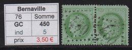Bernaville - Somme - GC 450 - Marcophilie (Timbres Détachés)