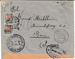GUERRA CIVIL 1936 CARTA DE UGT DE ORRIOS HASTA SUIZA Con Tasacion Suiza ELA 52 - 1931-Hoy: 2ª República - ... Juan Carlos I