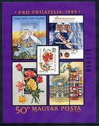 HUNGARY 1989 Pro Philatelia Imperforate Block MNH / **.  Michel Block 207 - Blocks & Sheetlets