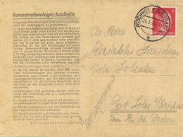 WK II KZ - Post Auschwitz Brief Mit Inhalt I-II (Gebrauchsspuren) - Weltkrieg 1939-45