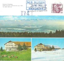 "AK  ""Grenchen - Berghaus Unterberg""  (Schiffsstempel Bielersee)       1979 - Schweiz"