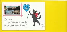 CHERVEIX-CUBA Rare Fantaisie Chat Illust. René (Jean.Pierre) Dordogne (24) - Andere Gemeenten