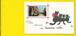 CHERVEIX-CUBA Rare Fantaisie Souvenir Chats Illust. René (Jean.Pierre) Dordogne (24) - France