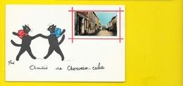 CHERVEIX-CUBA Rare Fantaisie Amitiès Chats Illust. René (Jean.Pierre) Dordogne (24) - France