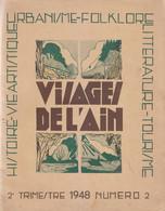 1948 - Visages De L'Ain N°2 - Nb Illustrations Et Publicités - FRANCO DE PORT - Franche-Comté
