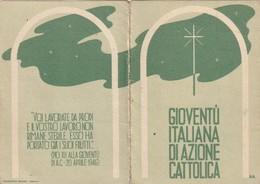 TRENTO TRENTINO ROVERETO NORIGLIO:TESSERA ISCRIZIONE GIOVENTU' DI AZIONE CATTOLICA ANNO 1946-47 - Non Classificati