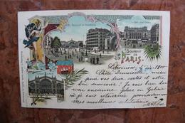 PARIS - SOUVENIR DE PARIS - BOULEVARD DE STRASBOURG - LA GARE SAINT LAZARE - LA GARE DU NORD - Sin Clasificación